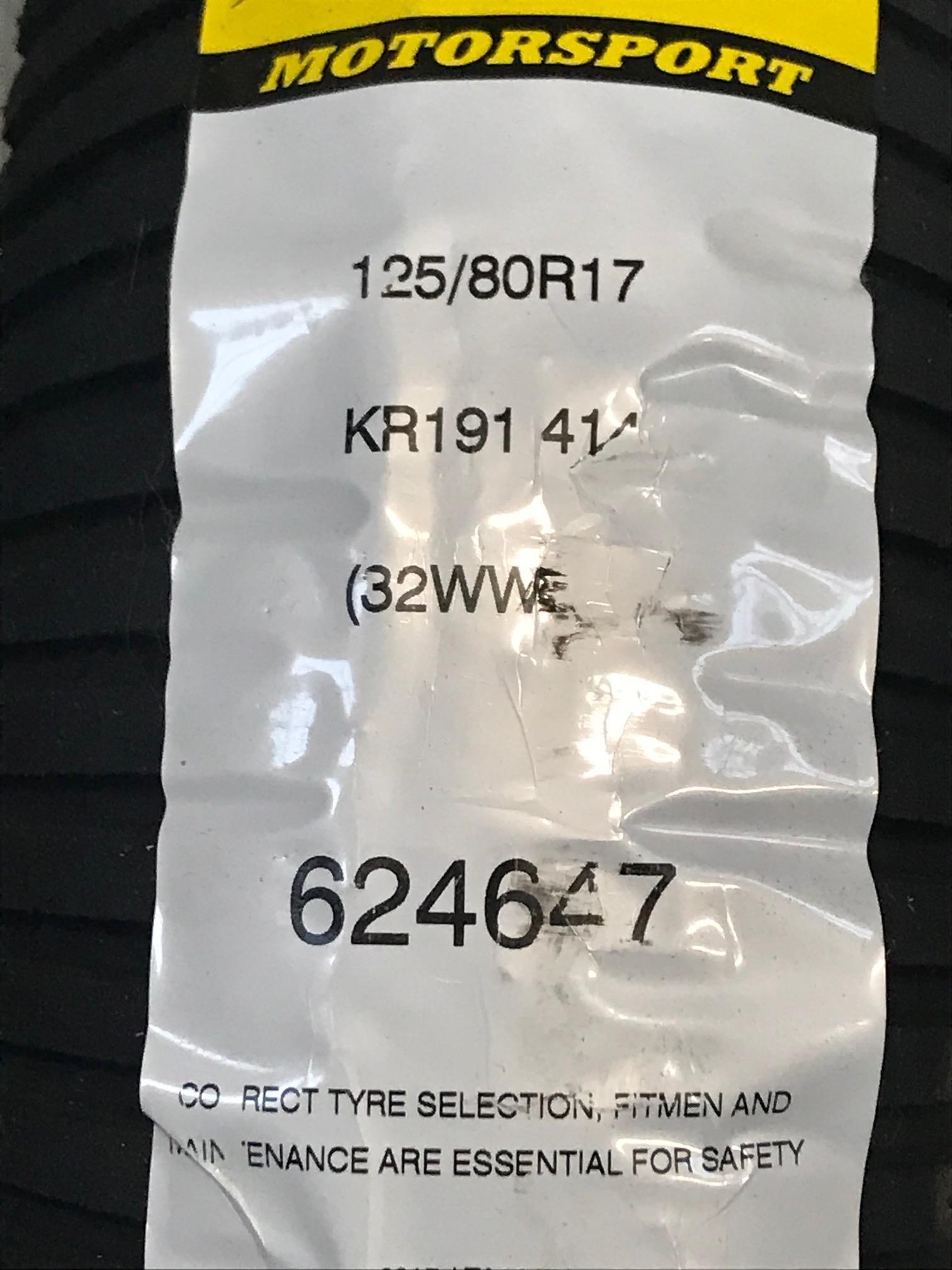 KR191 125/80R17 414 UK